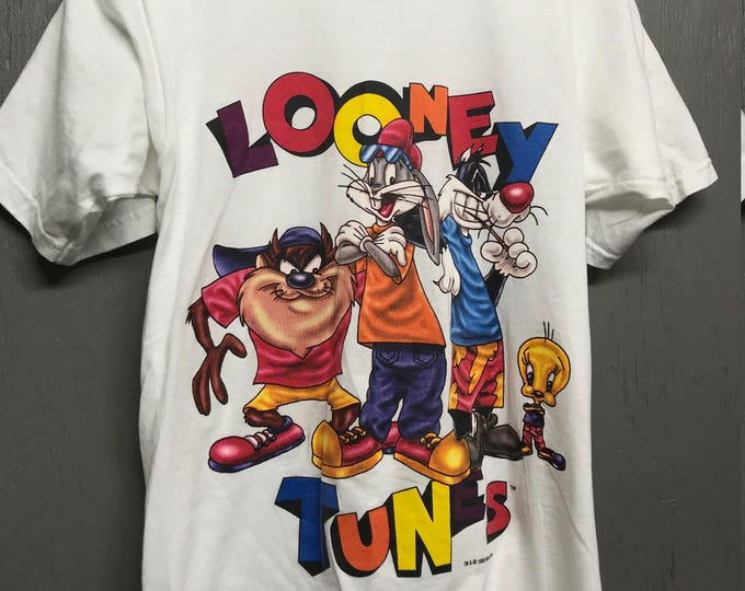 XS * nos vintage 90s 1996 Looney Tunes t shirt