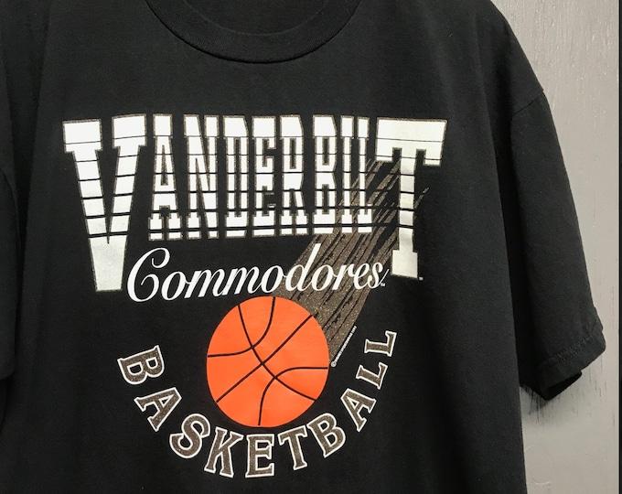 XXL vtg 90s 1993 Vanderbilt Commodores Basketball t shirt
