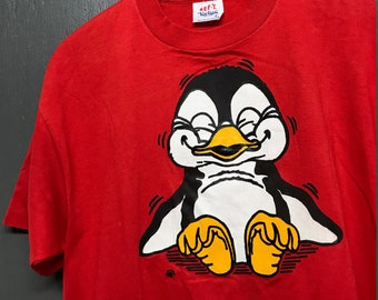 L vintage 80s/90s Penguin t shirt