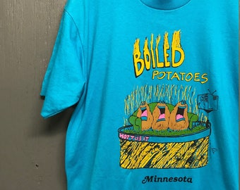 XL vintage 80s 1987 Minnesota Boiled Potatoes screen stars t shir