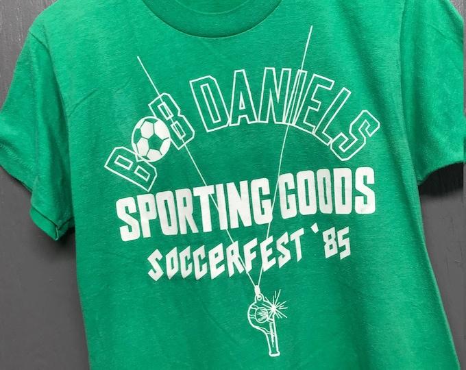 M vtg 80s 1985 Soccer Fest screen stars t shirt