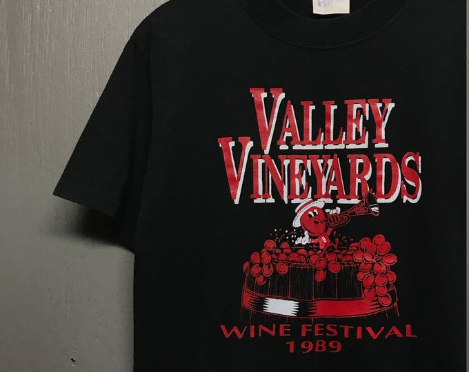M vintage 80s 1989 Wine Festival valley vineyards morrow ohio t shirt