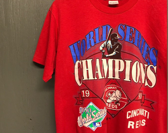 M/L vintage 1990 Cincinnati Reds t shirt * medium large