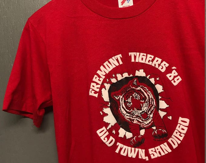 S vintage 80s 1989 Old Town San Diego Fremont Tigers t shirt