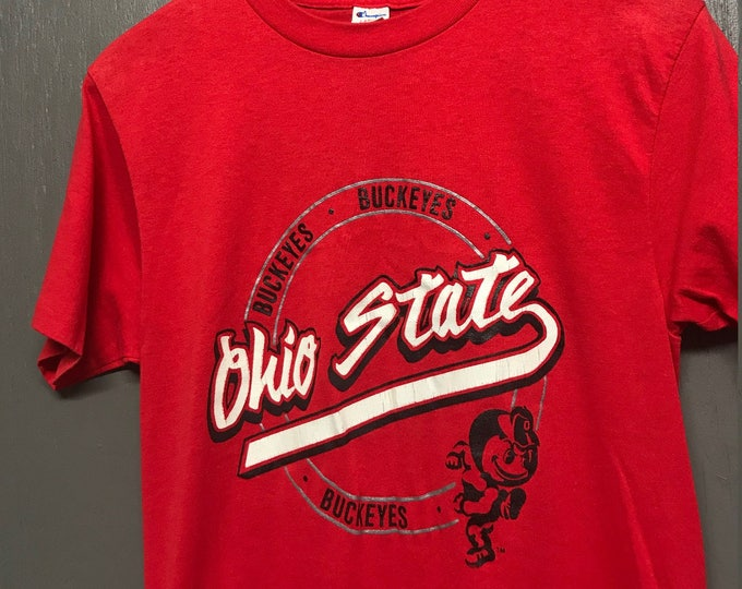 S vintage 80s Champion Ohio State Buckeyes t shirt