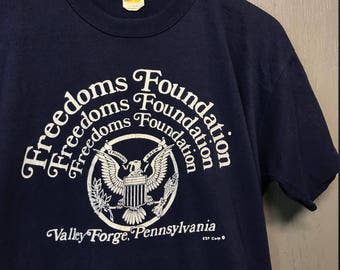 L vintage 70s Freedom Foundation valley forge PENNSYLVANIA t shirt