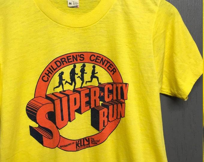 S thin vintage 80s Super City Run screen stars t shirt
