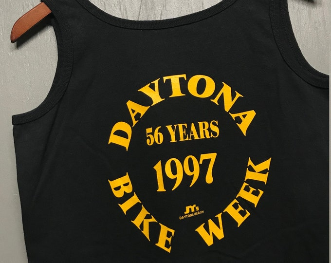 Women's M vtg 90s 1997 Daytona Bike Week biker motorcycle tank top t shirt
