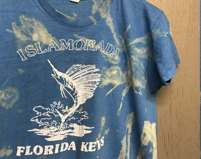 S/M vintage 70s Islamorada Florida tourist t shirt * small medium