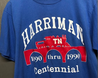 L vtg 1990 Harriman Tennessee tourist t shirt