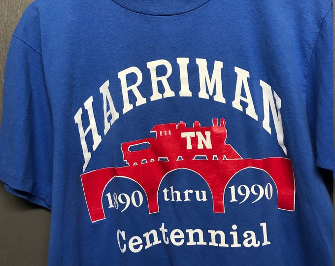 L vtg 1990 Harriman Tennessee tourist t shirt