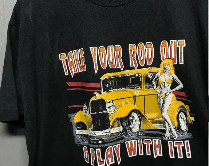 XL vtg 90s Hot Rod t shirt * bikini
