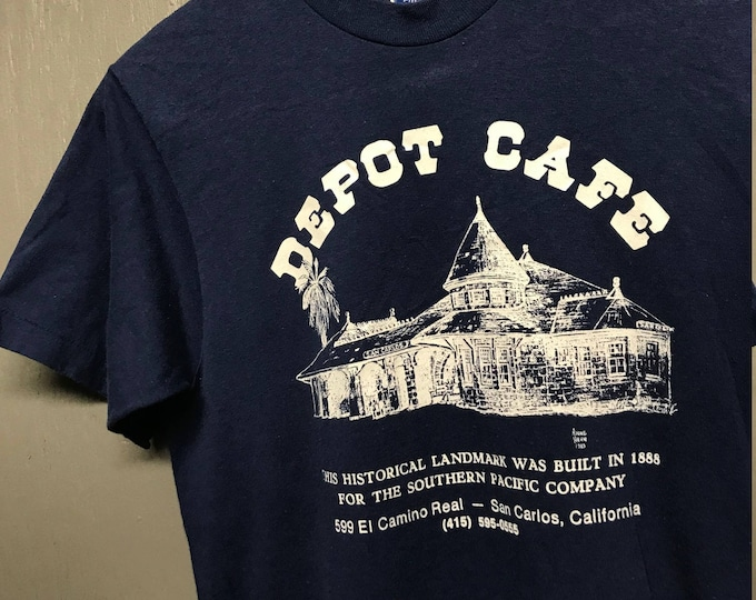 S vintage 80s 1983 Depot Cafe San Carlos California t shirt