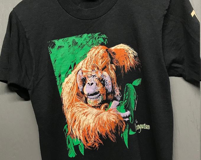 S vtg 90s 1992 Orangutan Seneca Park zoo screen stars t shirt
