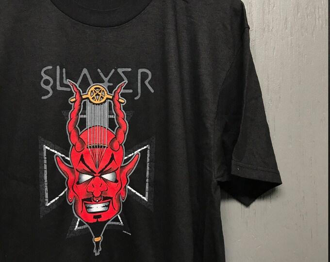 L Deadstock vintage 90s Slayer tour t shirt