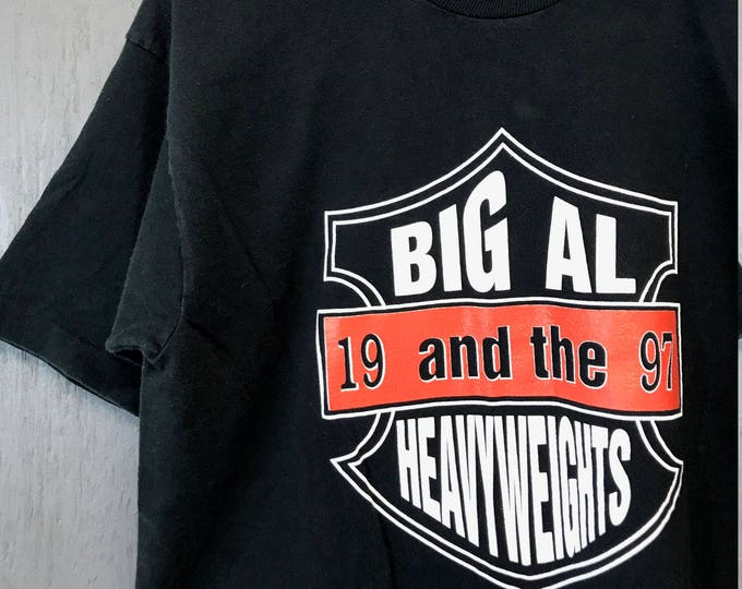 M/L * Vintage 90s 1997 Big Al and the Heavyweights no wimps Blues t shirt