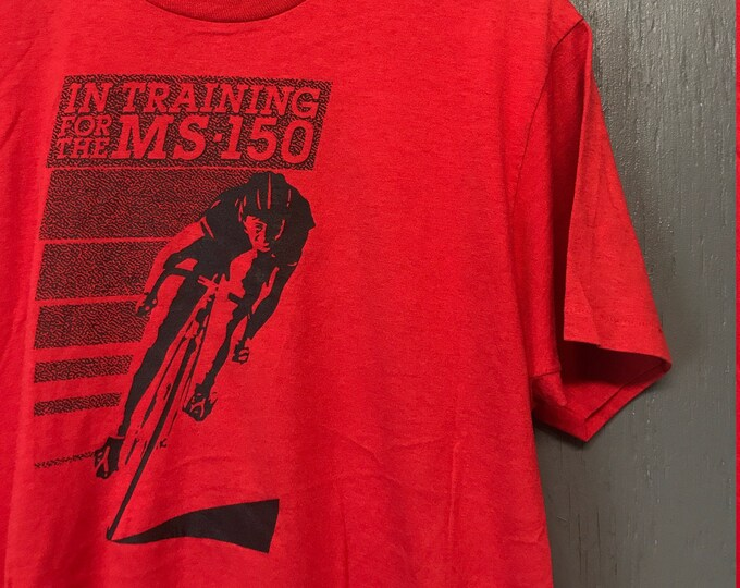 M vintage 80s MS-150 bicycle race screen stars t shirt