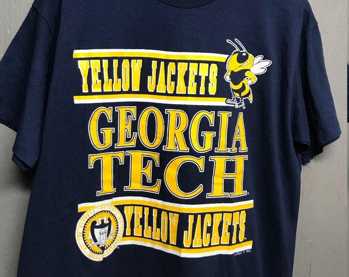 L vintage 80s/90s Georgia Tech Yellow Jackets t shirt