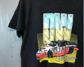 L * vintage 90s 1995 Darrell Waltrip NASCAR racing t shirt