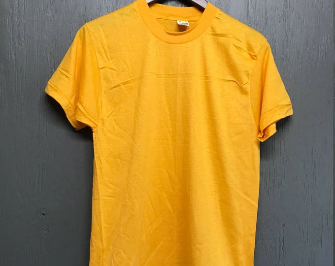 S nos vintage 80s BLANK gold Screen Stars t shirt