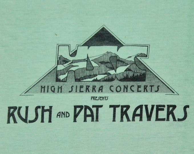 S * thin vtg 80s 1978 Rush and Pat Travers concert tour Staff t shirt * 60.135