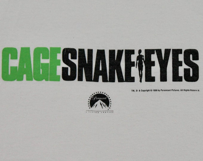 XL * vtg 90s 1998 Nicolas Cage Snake Eyes movie promo t shirt * 35.135