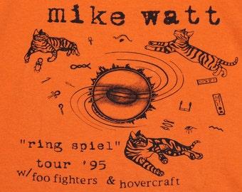 XL * vtg 90s 1995 Mike Watt w/ Foo Fighters 1st ever tour t shirt * firehose minutemen * 55.140