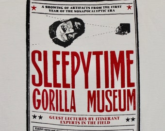 M/L * vtg Sleepytime Gorilla Museum t shirt * medium large sleepy time * 47.162
