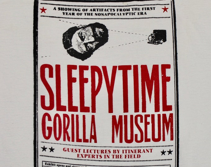 M/L * vtg Sleepytime Gorilla Museum t shirt * medium large sleepy time * 47.162