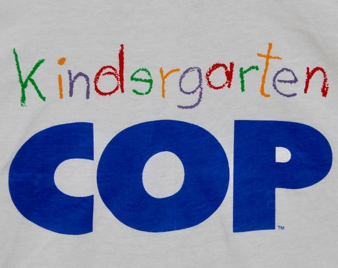 M/L * NOS vtg 1990 Kindergarten Cop movie promo t shirt * medium large schwarzenegger * 31.146