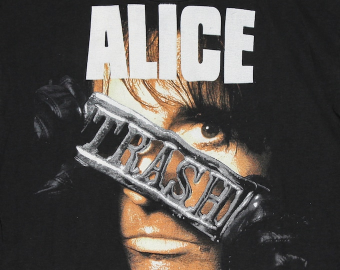 S/M * vtg 1989/1990 Alice Cooper trash tour t shirt * small medium 80s 90s * 46.154