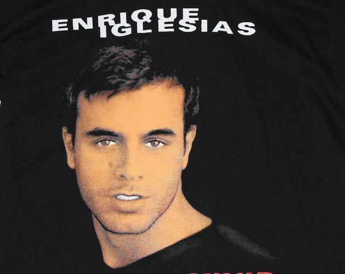 L * NOS vtg 90s 1997 Enrique Iglesias vivir t shirt * 38.159