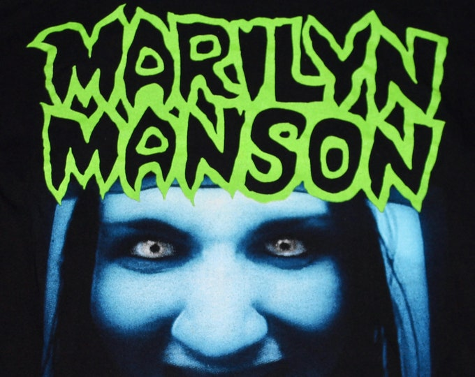 L/XL * vtg 90s 1994 Marilyn Manson this is your world t shirt * 100.7