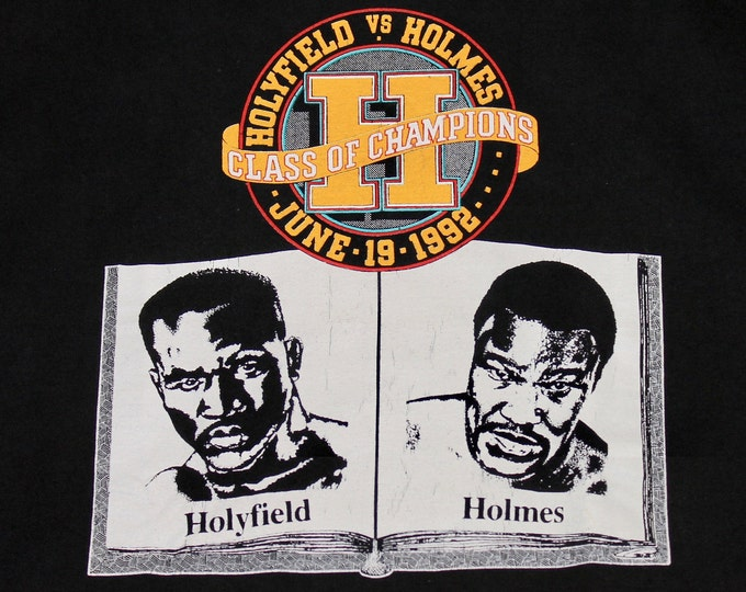 XL * vtg 90s 1992 Holyfield v Holmes * evander larry boxing * 61.130