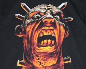S * NOS vtg 90s monster horror art t shirt * wes benscoter frankenstein
