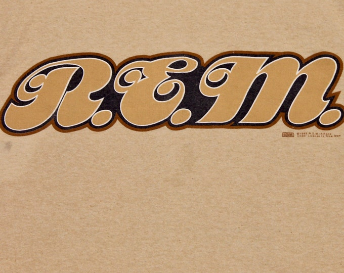 XL * vtg 90s 1995 organic REM monster t shirt * r.e.m. tour * 59.164