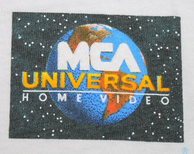 L * NOS vtg 90s MCA Universal Home Video vhs t shirt * movie * 39.176