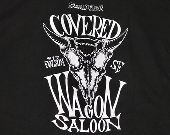 XL * vtg 90s Covered Wagon Saloon San Francisco t shirt * nirvana operation ivy melvins nofx bad religion * 87.50