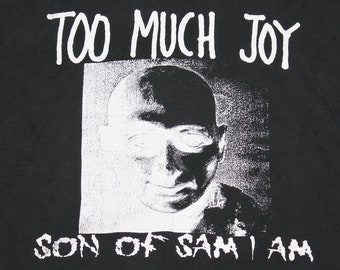 L * vtg 80s 1989 Too Much Joy son of sam i am t shirt * 98.8