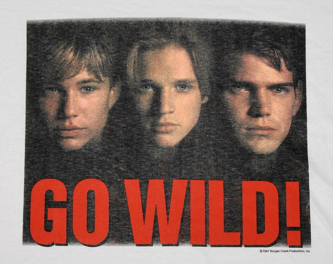 XL * NOS vtg 90s 1997 Wild America movie promo t shirt * jonathan taylor thomas devon sawa * 30.151