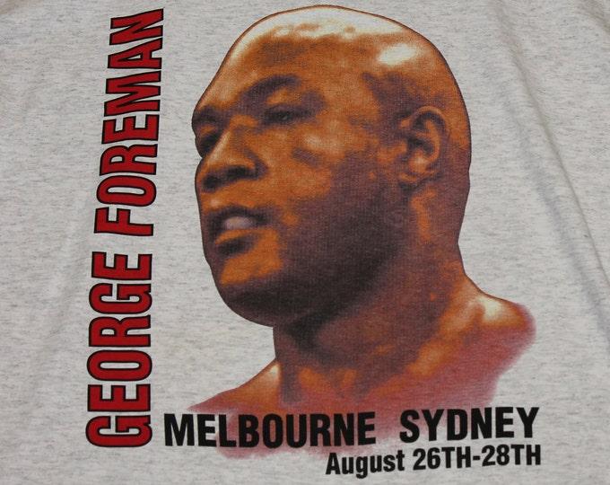 XL * NOS vtg 90s 1995 George Foreman boxing t shirt * sydney australia * 11.140