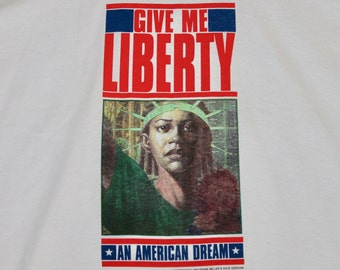 XL * NOS vtg 1990 Give Me Liberty an american dream Frank Miller Dave Gibbons comic t shirt * 22.156