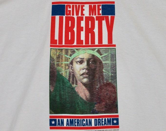XL * NOS vtg 1990 Give Me Liberty an american dream Frank Miller Dave Gibbons comic t shirt * 22.156