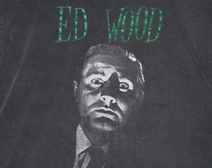 L * vtg 90s ED WOOD t shirt * b movie horror cult classic vhs * 45.174