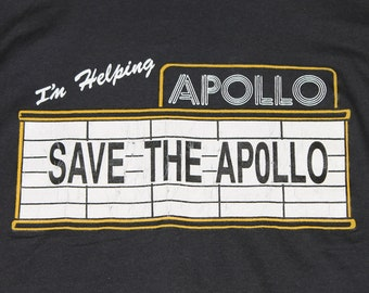 L * vtg 80s Save The Apollo Theater screen stars t shirt * harlem new york funk soul rap jazz * 98.20