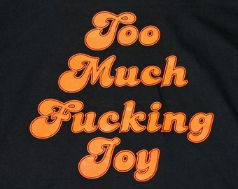 L * vtg 80s Too Much Joy t shirt * 98.1