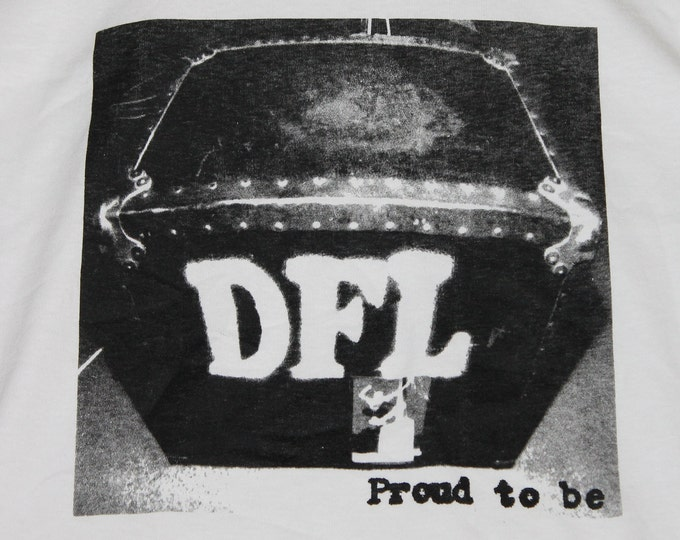 S * NOS vtg 90s 1995 DFL proud to be ringer t shirt * dead f@*king last epitaph records punk