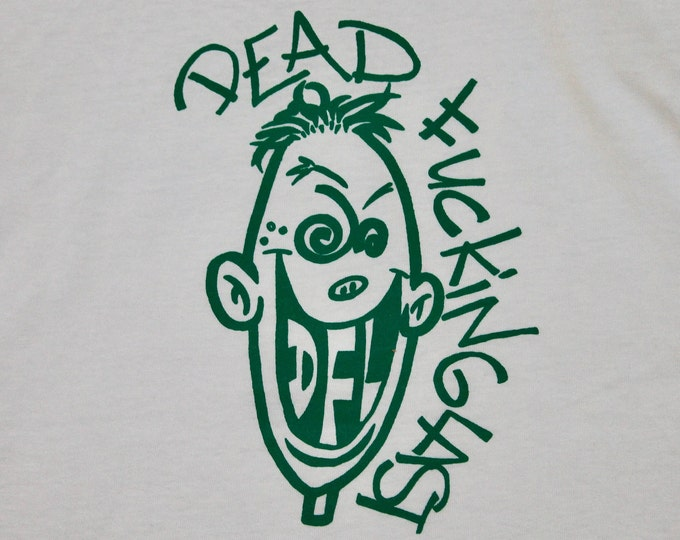 S * NOS vtg 90s DFL t shirt * dead f@*king last epitaph records punk
