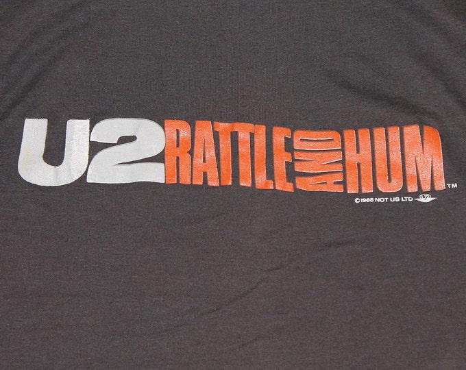 XS * thin vtg 80s 1986 U2 rattle and hum screen stars t shirt * 52.165