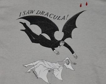 S * vtg 70s EDWARD GOREY art bram stokers Dracula play t shirt * 30.150 horror monster